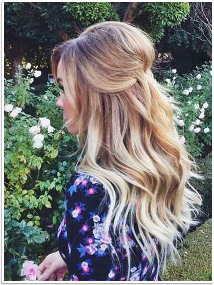 135 Whimsical Half Up Half Down Hairstyles You Can Wear For All With Regard To Half Up Blonde Ombre Curls Bridal Hairstyles (View 18 of 25)