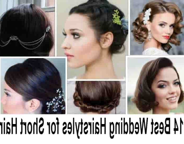 14 Best Indian Bridal Hairstyles For Short Hair: Photos, Tips Pertaining To Curly Bun Bridal Updos For Shorter Hair (View 18 of 25)