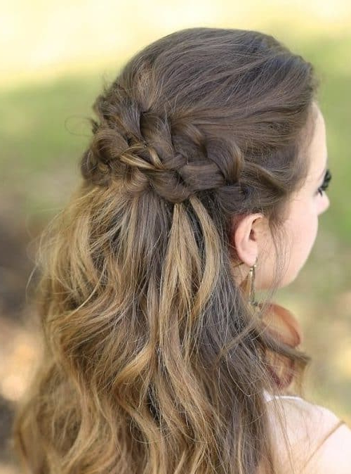 14893 Half Up Half Down Hairstyles For Wedding, Prom Etc [Video Added] For French Braided Halfdo Bridal Hairstyles (View 13 of 25)