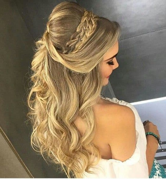 14893 Half Up Half Down Hairstyles For Wedding, Prom Etc [Video Added] Regarding Bumped Hairdo Bridal Hairstyles For Medium Hair (View 13 of 25)