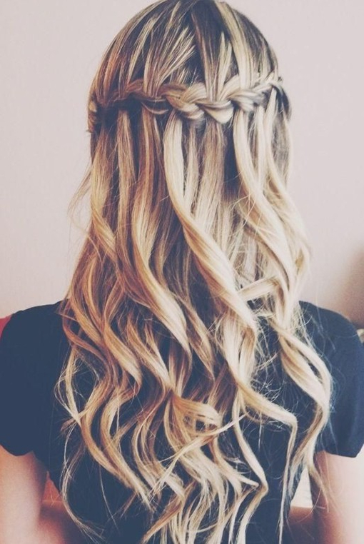 15 Best Long Wavy Hairstyles – Popular Haircuts For Tied Back Ombre Curls Bridal Hairstyles (View 20 of 25)