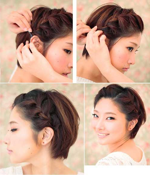 15 Braided Hairstyles For Short Hair Short Hairstyles, Short Pixie Regarding Braided Bob Short Hairdo Bridal Hairstyles (View 18 of 25)