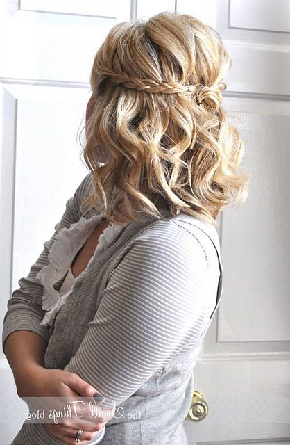 15 Fantastic Updos For Medium Hair   Beauty   Pinterest   Hair Pertaining To Pulled Back Layers Bridal Hairstyles With Headband (View 23 of 25)