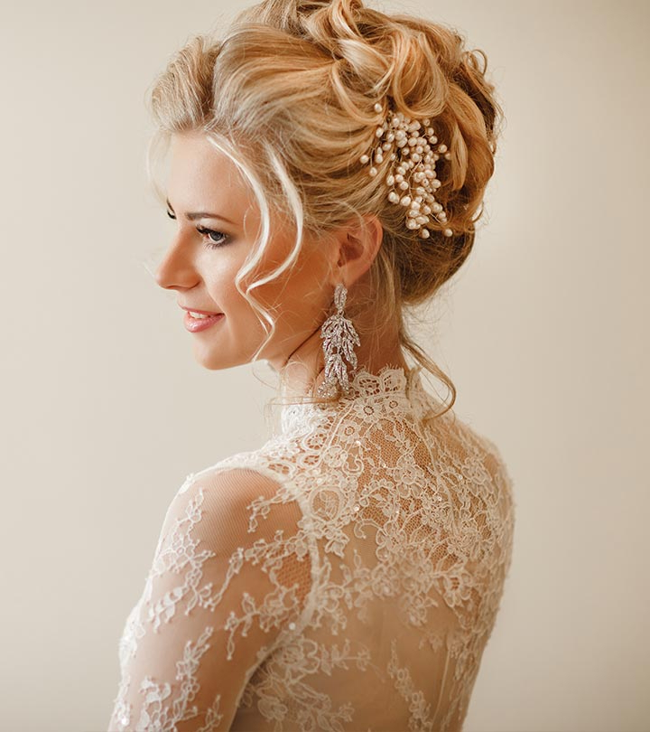 15 Mesmerizing Bridal Updos That Will Inspire You Within Large Curly Bun Bridal Hairstyles With Beaded Clip (View 20 of 25)