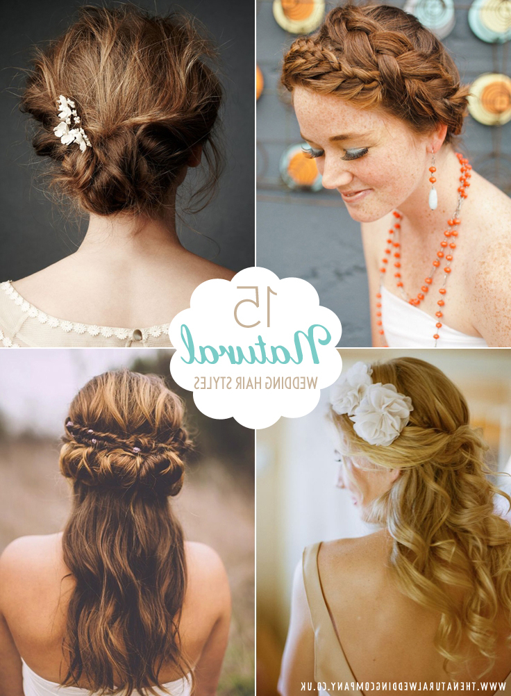 Featured Photo of Natural Looking Braided Hairstyles For Brides
