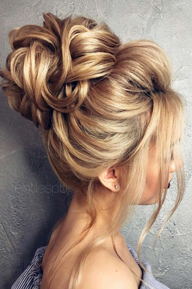15 Pretty Chignon Bun Hairstyles To Try | Hair | Hair Styles, Hair With Regard To Woven Updos With Tendrils For Wedding (View 5 of 25)