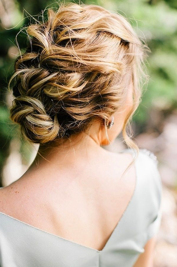 15 Pretty Prom Hairstyles 2019: Boho, Retro, Edgy Hair Styles Intended For Tousled Asymmetrical Updo Wedding Hairstyles (View 16 of 25)