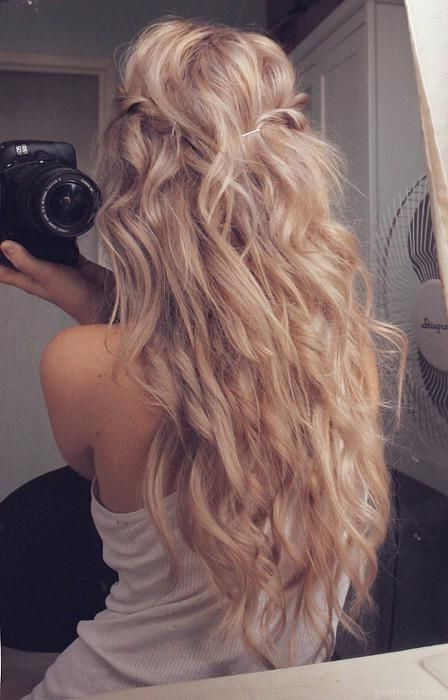 15 So Pretty Hairstyles For Long Hair | Haaaair | Hair, Hair Styles Throughout Blonde And Bubbly Hairstyles For Wedding (View 4 of 25)