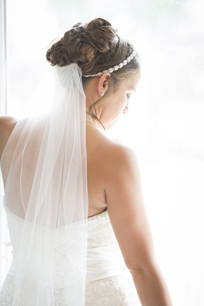 15 Weather Resistant Bridal Updos Throughout Bridal Chignon Hairstyles With Headband And Veil (View 6 of 25)