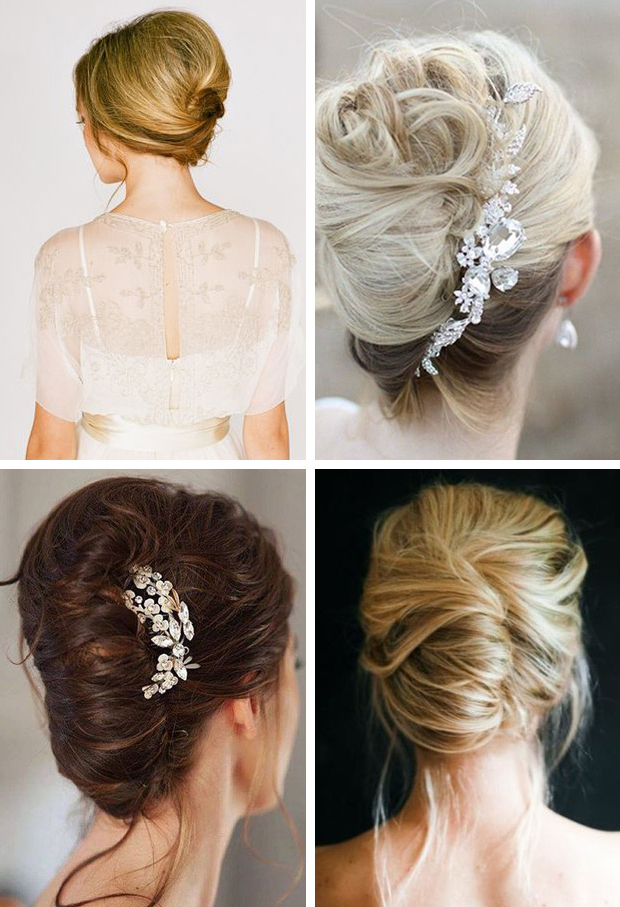 16 Gorgeous Summer Wedding Hair Trends And Ideas | Onefabday Inside Messy French Roll Bridal Hairstyles (View 23 of 25)