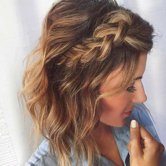 17 Chic Braided Hairstyles For Medium Length Hair | Hair | Short In Braided Wedding Hairstyles With Subtle Waves (View 8 of 25)