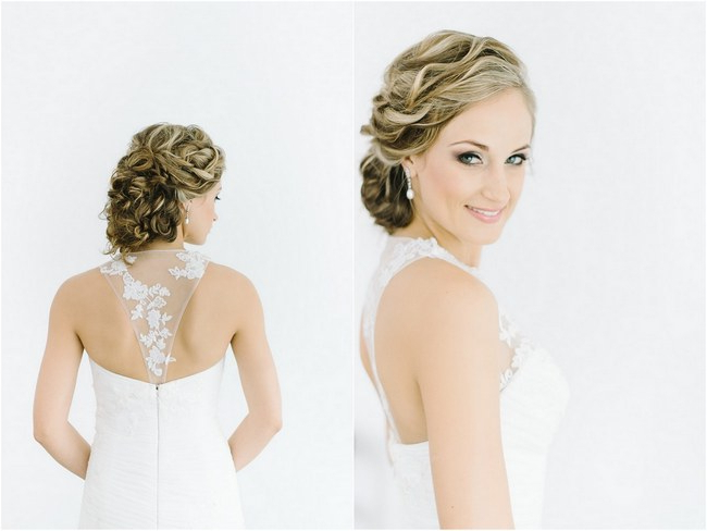 17 Jaw Dropping Wedding Updos & Bridal Hairstyles Inside Curled Bridal Hairstyles With Tendrils (View 22 of 25)