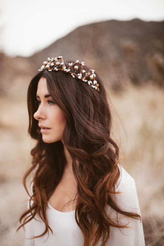 18 Free Spirit Boho Chic Bridal Headpieces You'll Love | Bridal Pertaining To Bohemian And Free Spirited Bridal Hairstyles (View 1 of 25)