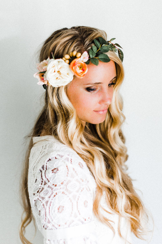 18 Free Spirit Boho Chic Bridal Headpieces You'll Love | Hair Intended For Bohemian And Free Spirited Bridal Hairstyles (View 4 of 25)