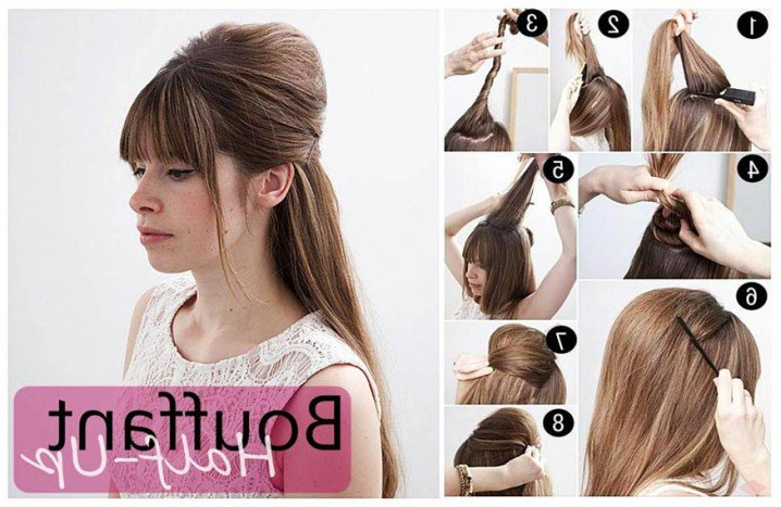 18 Graceful Vintage Hairstyle Tutorials | Styles Weekly For Semi Bouffant Bridal Hairstyles With Long Bangs (View 16 of 25)