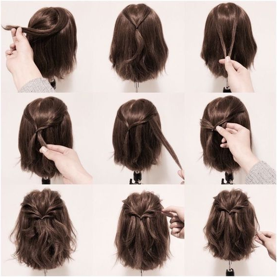 18 Half Up Hairstyles For Short And Medium Length Hair To Try Now In Fancy Chignon Wedding Hairstyles For Lob Length Hair (View 16 of 25)