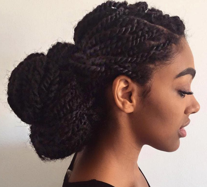 18 Marley Twists Looks You'll Love (Celeb & Instagram Inspo)| All Regarding Two Toned Twist Updos For Wedding (View 6 of 25)