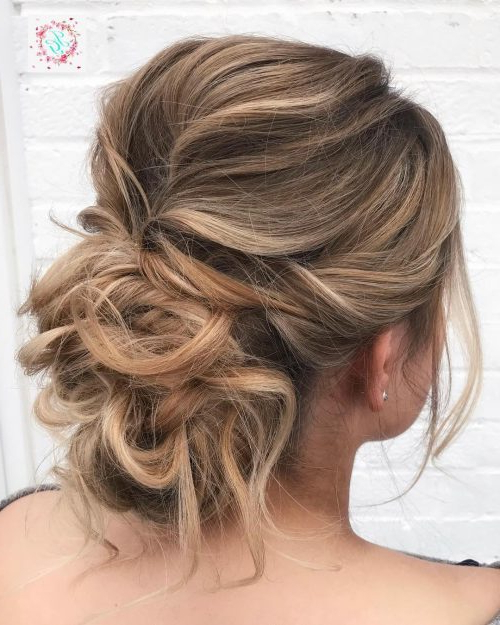 18 Sexiest Messy Updos You'll See In 2019 Pertaining To Curly Messy Updo Wedding Hairstyles For Fine Hair (View 24 of 25)