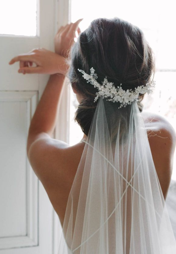 18 Spectacular Statement Bridal Headpieces For 2017   I Do Pertaining To Bridal Chignon Hairstyles With Headband And Veil (View 10 of 25)