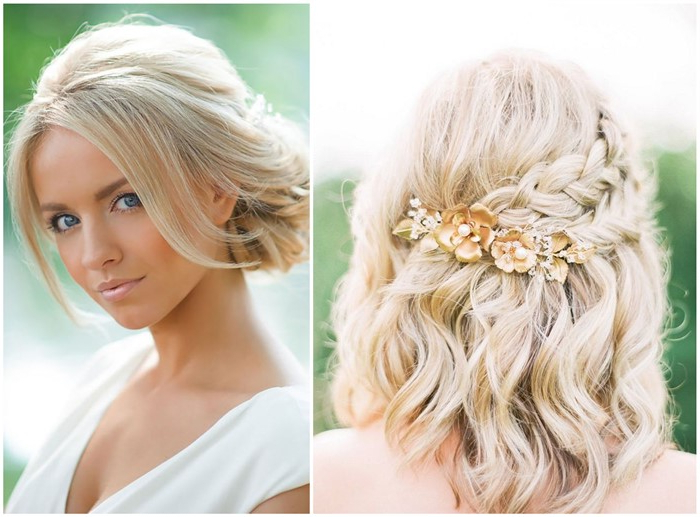 18 Stylish Wedding Hairstyles For Short Hair In Braided Bob Short Hairdo Bridal Hairstyles (View 11 of 25)