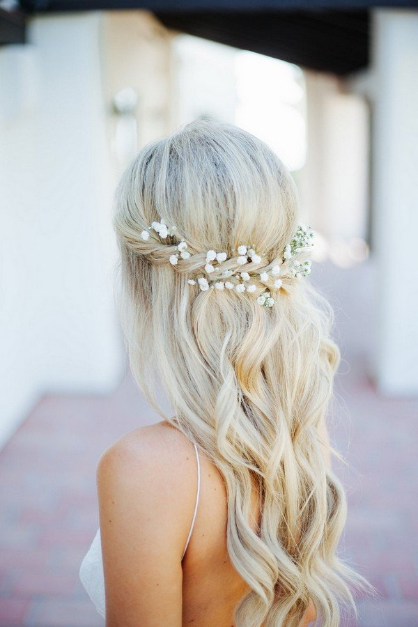 18 Trending Wedding Hairstyles With Flowers – Oh Best Day Ever Within Braided Lavender Bridal Hairstyles (View 9 of 25)
