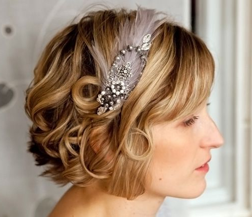 18 Wedding Hairstyles For Short Hair | Hairstyles Ideas For Short Wedding Hairstyles With A Swanky Headband (View 21 of 25)