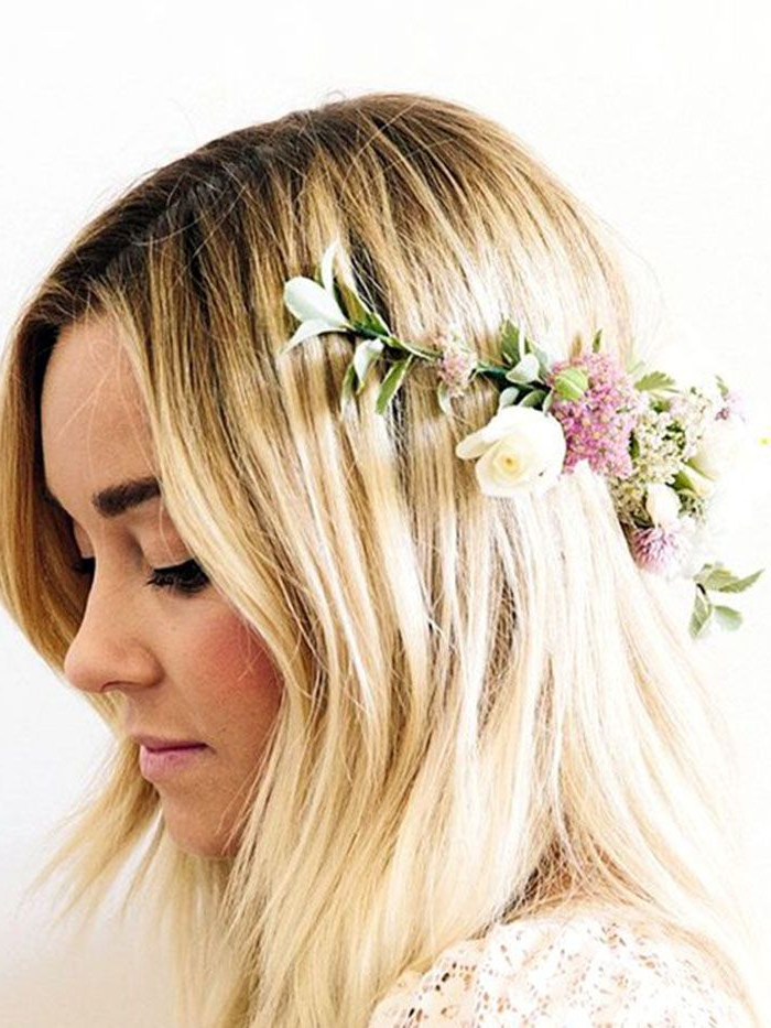 19 Fall Wedding Hairstyles That Celebrity Hairstylists Love   Byrdie Within Accessorized Undone Waves Bridal Hairstyles (View 25 of 25)