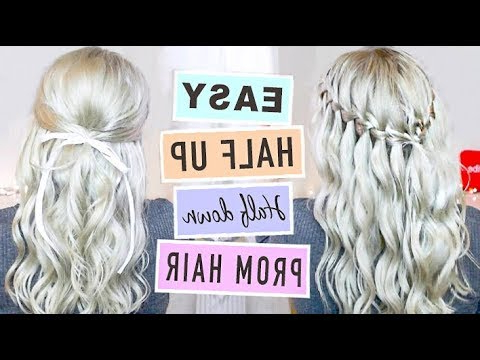 2 Easy & Romantic Half Up Half Down Prom/wedding Hairstyles Inside Easy Cute Gray Half Updo Hairstyles For Wedding (View 2 of 25)