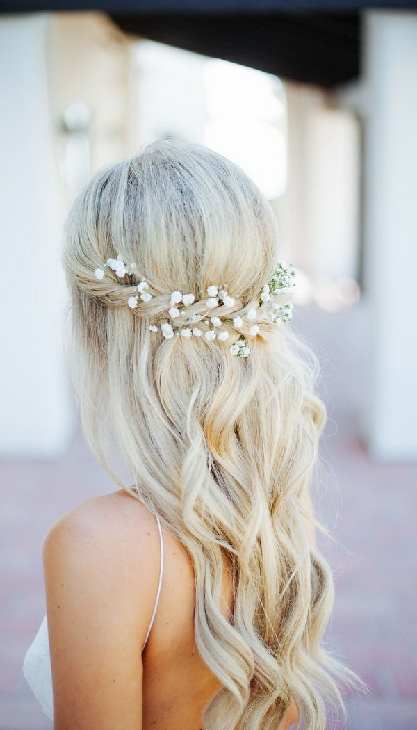20 Amazing Half Up Half Down Wedding Hairstyle Ideas | Wedding In Crisscrossed Half Up Wedding Hairstyles (View 18 of 25)