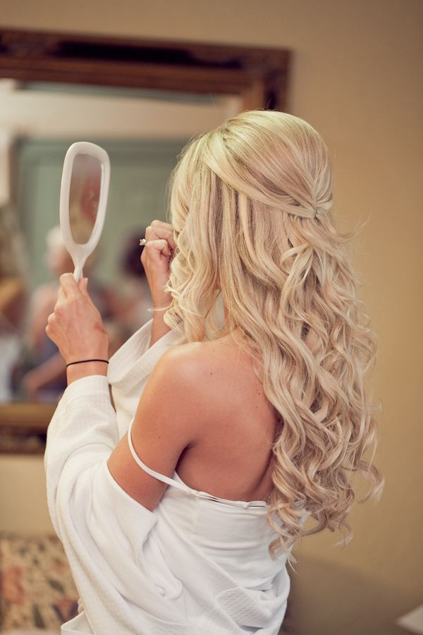 20 Awesome Half Up Half Down Wedding Hairstyle Ideas Inside Twists And Curls In Bridal Half Up Bridal Hairstyles (View 22 of 25)