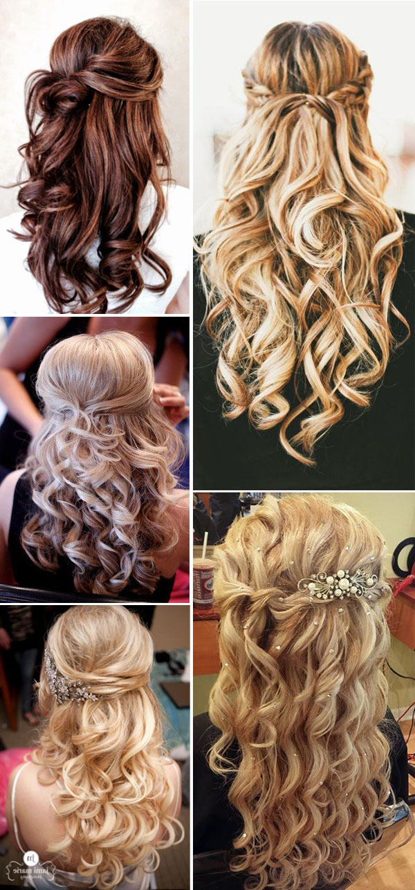 20 Awesome Half Up Half Down Wedding Hairstyle Ideas With Regard To Half Up Wedding Hairstyles With Jeweled Clip (View 7 of 25)