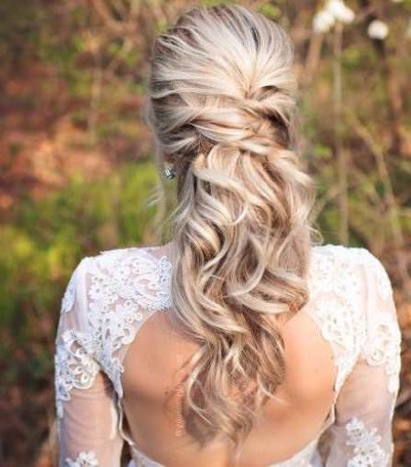 20 Best Half Up And Half Down Wedding Hairstyles | Hair Style With Crisscrossed Half Up Wedding Hairstyles (View 2 of 25)