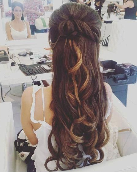 20 Best Half Up And Half Down Wedding Hairstyles | Wedding within Bumped Twist Half Updo Bridal Hairstyles