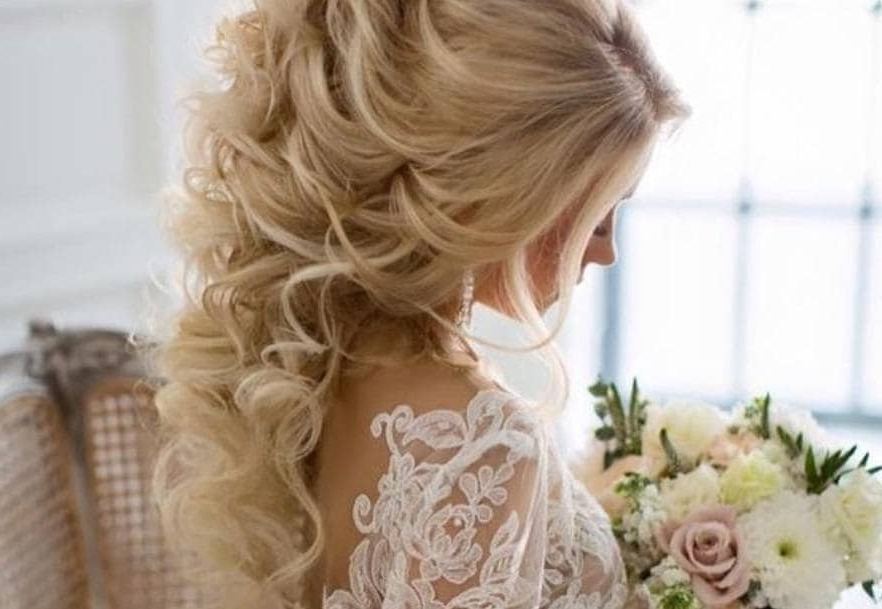 20 Double Tap Worthy Curly Wedding Hair Looks To Copy Now | All For Curly Wedding Updos With A Bouffant (View 8 of 25)