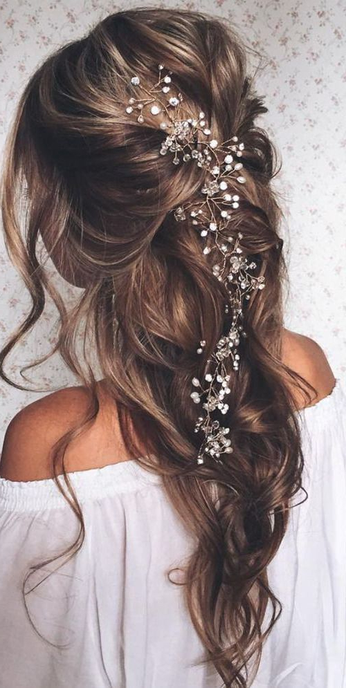 20 Fabulous Bridal Hairstyles For Long Hair | Gorgeous Hair Throughout Pinned Brunette Ribbons Bridal Hairstyles (View 2 of 25)