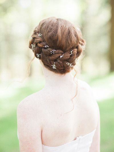 20 Fabulous Wedding Hairstyles For Every Bride | Tulle & Chantilly For French Twist Wedding Updos With Babys Breath (View 20 of 25)