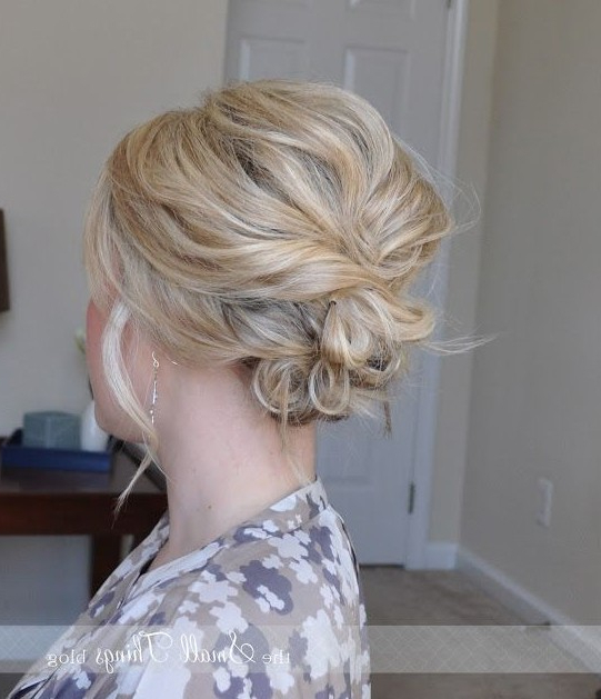 20 Gorgeous Messy Wedding Updos – Pretty Designs Regarding Loose Wedding Updos For Short Hair (View 10 of 25)