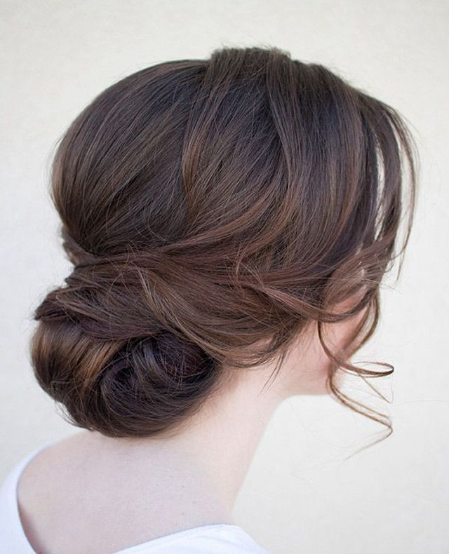 20 Low Updo Hair Styles For Brides | Our Wedding! | Wedding For Sleek And Simple Wedding Hairstyles (View 5 of 25)