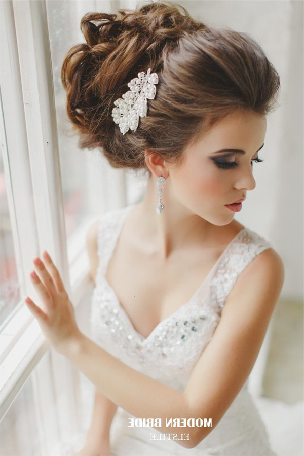 20 Most Beautiful Updo Wedding Hairstyles To Inspire You | Deer Intended For Modern Updo Hairstyles For Wedding (View 25 of 25)