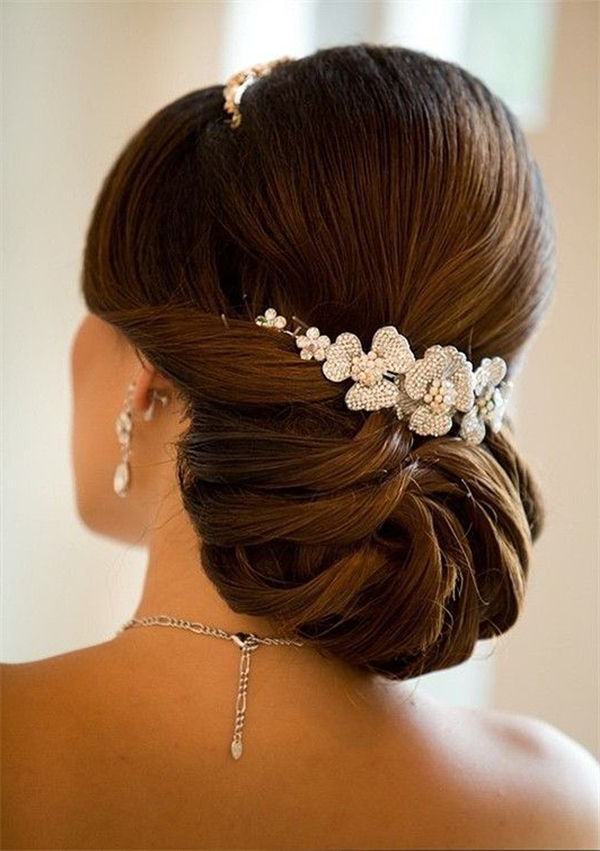 20 Most Elegant And Beautiful Wedding Hairstyles | Wedding Ideas Inside Sophisticated Pulled Back Cascade Bridal Hairstyles (View 6 of 25)