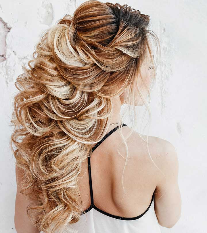 20 Perfect Half Up Half Down Hairstyles With Regard To Loose Curly Half Updo Wedding Hairstyles With Bouffant (View 14 of 25)