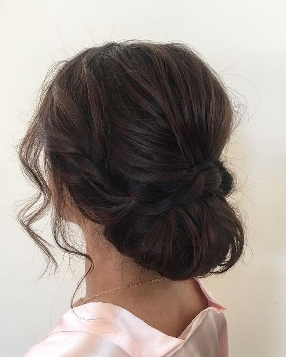 20 Quick & Easy Updos For Your Craziest Mornings | Beauty Within Woven Updos With Tendrils For Wedding (View 4 of 25)