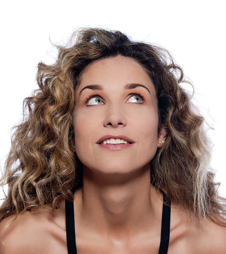 20 Simple Curly Hairstyles For Women Over 40 In Half Up Curly Hairstyles With Highlights (View 23 of 25)