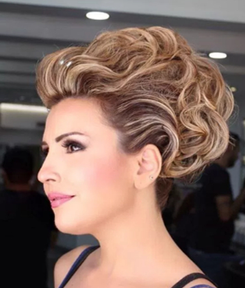 20 Stunning Wedding Hairstyles For Short Hair – Lifted Curls | Abs Throughout Lifted Curls Updo Hairstyles For Weddings (View 8 of 25)