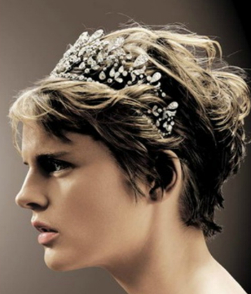 20 Stunning Wedding Hairstyles For Short Hair Within Short Wedding Hairstyles With A Swanky Headband (View 8 of 25)
