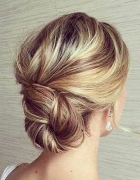 20 Unique Updos For Thin Hair | Long Bob Hairstyles | Wedding Inside Sleek And Simple Wedding Hairstyles (View 17 of 25)
