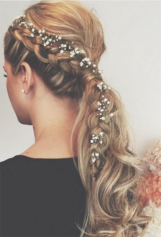 20 Wedding Ponytail Hairstyles For The Modern, Romantic, And For Ponytail Bridal Hairstyles With Headband And Bow (View 4 of 25)
