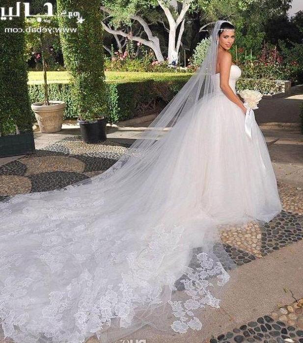 2015 Bridal Veil Long Veil White Ivory (View 11 of 25)