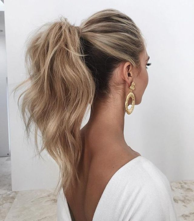2018 Wedding Hair Trends | The Ultimate Wedding Hair Styles Of 2018 For Curly Ponytail Wedding Hairstyles For Long Hair (View 12 of 25)