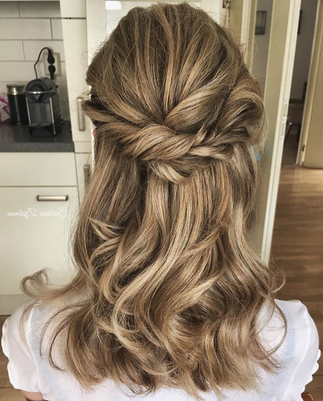 2018 Wedding Hair Trends | The Ultimate Wedding Hair Styles Of 2018 For Twisted And Pinned Half Up Wedding Hairstyles (View 7 of 25)